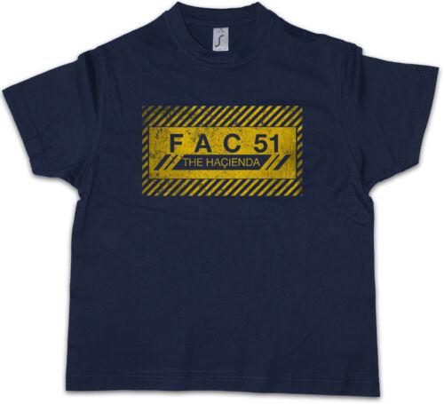 FAC 51 THE HACIENDA I Kids Boys T-Shirt Fac51 Club Factory Records Joy Division