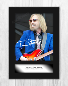 Tom-Petty-4-A4-signed-mounted-photograph-picture-poster-Choice-of-frame