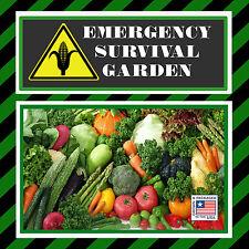 Emergency Survival Heirloom Garden Seed Pack Non Hybrid Non GMO MRE Food