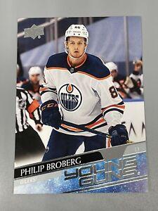 Philip Broberg 2020-21 Upper Deck Series 1 Young Guns RC #204 Edmonton Oilers