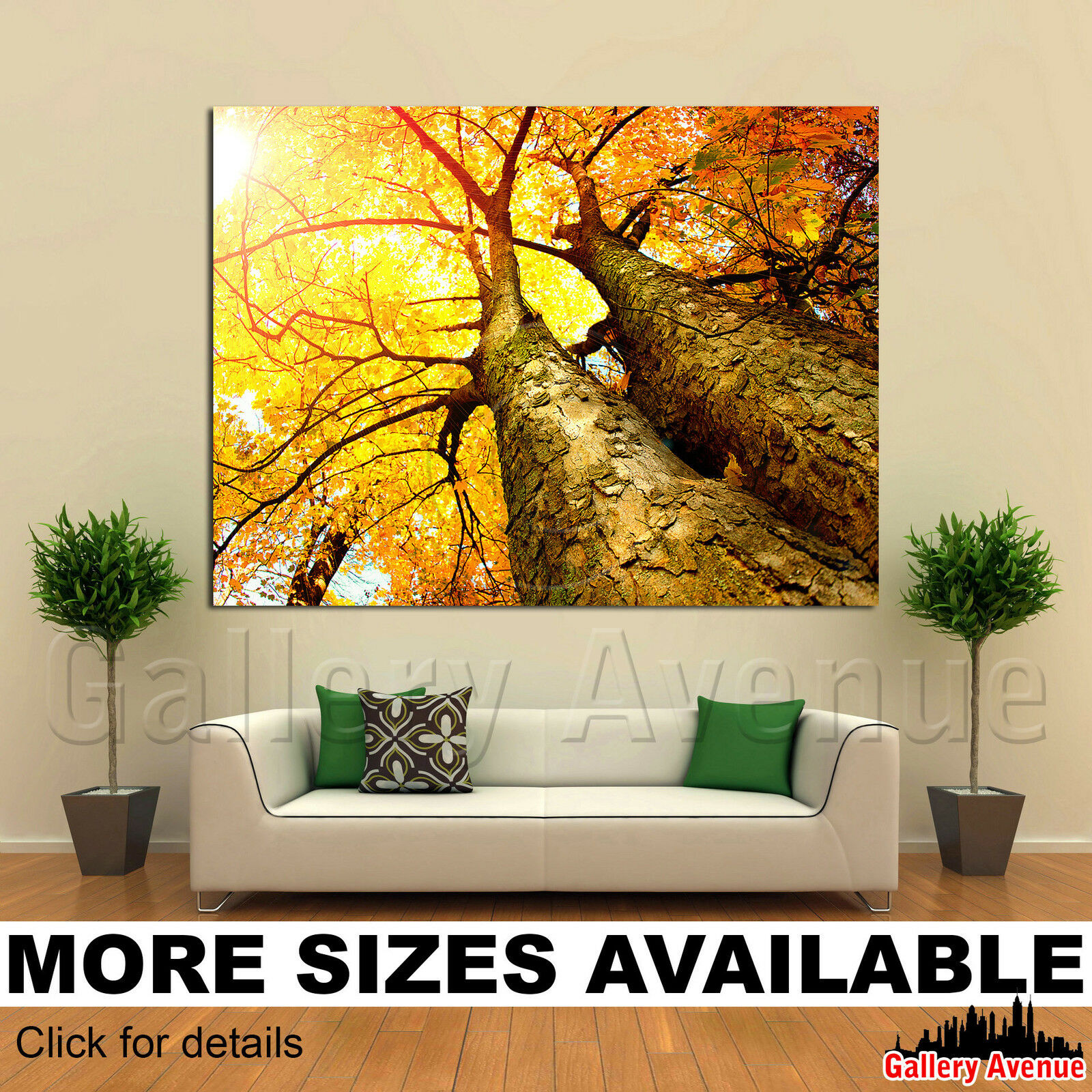 Wall Art Canvas Picture Print - Autumn Fall Gelb Trees 4.3