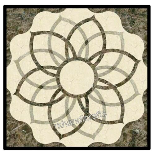 Marble Coffee Table Top Marquetry Art Center table with Elegant Look
