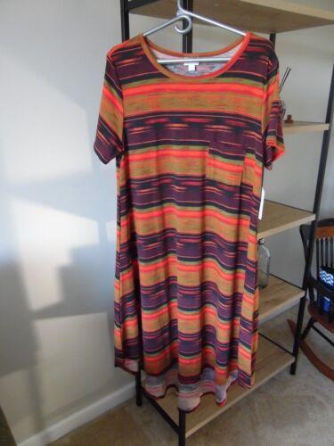 NWT LuLaRoe Carly Dress XL Aztec Southwestern Unic