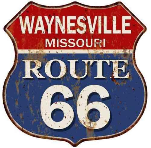 WAYNESVILLE MISSOURI Route 66 Shield Metal Sign Man Cave Garage 211110013105