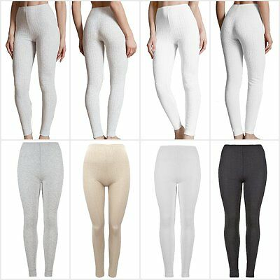 Fa M Ou S High St Women's Pointelle Thermal Ankle Length Leggings Rrp £12.50 Moderater Preis