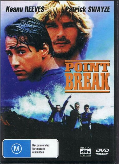 POINT BREAK DVD Keanu Reeves & Patrick Swayze NEW & SEALED Free Post