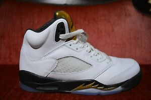 new style 4c29e adabc Image is loading Nike-Air-Jordan-5-Retro-Olympic-Gold-Medal-