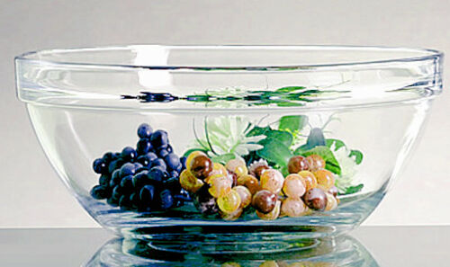 2x 30 cm STAPELSCHALE Glas Schale Glasschale Salatschale Glasschüssel Schüssel