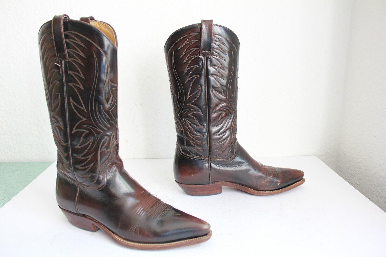 Buffalo western cowboy bottes bottes pleinehommest véritable cuir marron eu 36, 5 made in Mexico