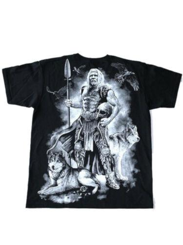 Gothic Odin Metal Wikinger Viking Walhalla Hugin Munin T-Shirt Hemd M L XL XXL