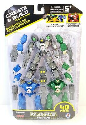 M.A.R.S Heros Megabot Action Figure Create /& Build Your Own 40 Piece Set New