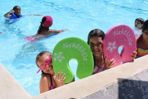 Nekdoodle Swim Training Aid Kickboard Swimming Pool Float Pink Plumeria Flower