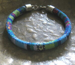 Ethno-Armband-blau-bunt-Herren-Damen-Damenarmband-Herrenarmband-Surf-gruen-Mexiko