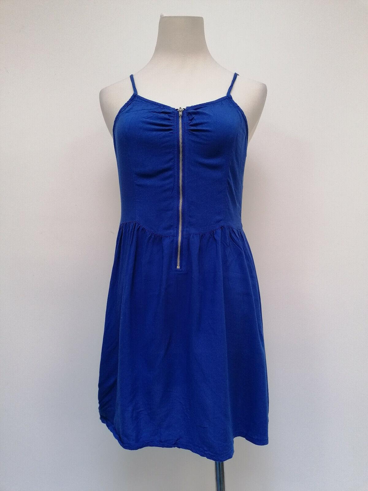 Divided Damen ärmellos Träger Kleid blau Größe 38 35325