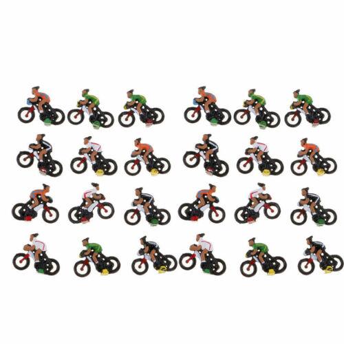 12 scale model railway train people figures cyclist bike H0 HO gauge 19mm  M25