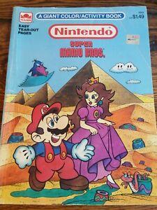 Details about 1989 Rare Vintage Nintendo Super Mario Bros Coloring Book  Mario NES Golden 3252