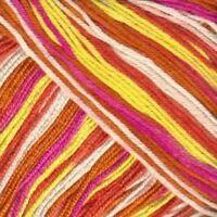 Sirdar Smiley Stripes Dk - 260 smiley stripes - Yellow / Pink / Orange