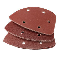 10Pcs Triangular Hook&Loop 60 80 120 Grit Sanding Kit Sandpaper Sand Paper 140mm