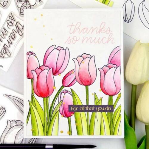 Tulip Metal Cutting Dies And Stamps For Scrapbooking Album Card Embossing Craft.