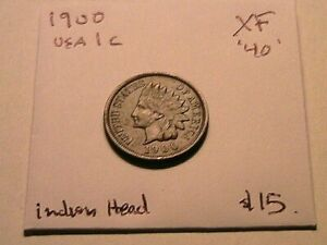 1900-Indian-Head-XF-Extra-Fine-Original-Bronze-Small-Cent-1-Penny-US-Coin