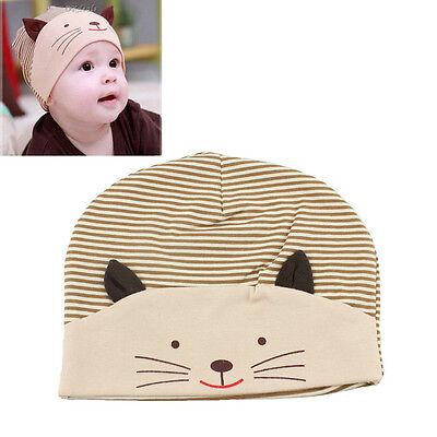 Cute Cotton Baby Cat Stripe Beanie Boys Girls Hat Infant Newborn Kids Cap XKDZH