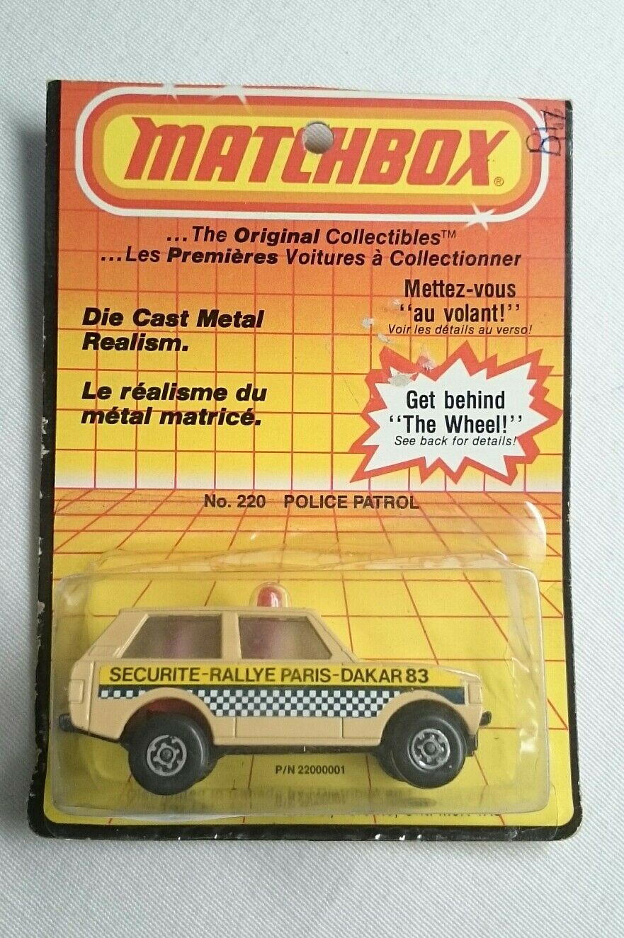 LESNEY MATCHBOX 1975 ROLAMATICS NO 20 POLICE PATROL MADE IN ENGLAND RARE