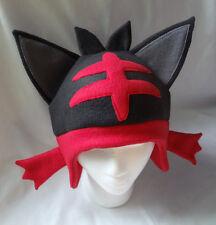 Custom Handmade Pokemon Litten Hat Cosplay Costume Alola Rowlet Popplio