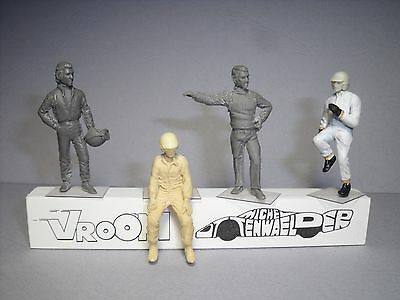 4 Figurines 1/43 Set 367 Steve Mc Queen Bullitt Le Mans Vroom No Spark