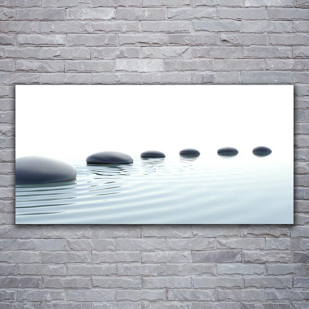 Impression sur verre Wall Art 120x60 Photo Image pierres de l'eau Art