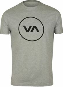 RVCA-Mens-VA-Sport-Position-T-Shirt-Athletic-Gray-Black