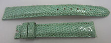 Chopard 14mm x 12mm Light Green Lizard Leather Watch Strap Band Set