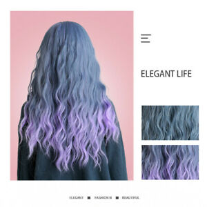 Women-Synthetic-Wigs-Long-Curly-Wave-Wig-Heat-Resistant-w-Free-Wig-Cap-Ombre