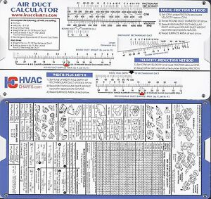 Details about Air Duct Sizing Calculator HVAC Heating and Cooling