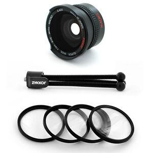 Wide-Angle-Fish-Eye-Lens-0-42x-Macro-Filter-for-Canon-Vixia-HG21-HG20-HF21-USA