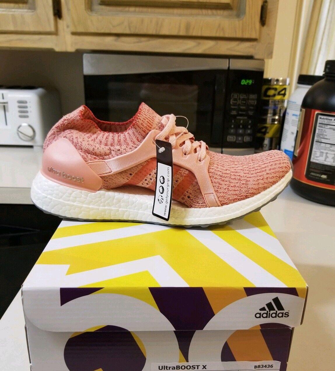 New Women's Adidas 9.5 Ultra Boost X shoes Running Training Pink Ultraboost
