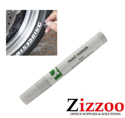 ETC TYRES FREE POSTAGE WHITE PERMANENT PAINT PEN MARKER WORKS ON METAL