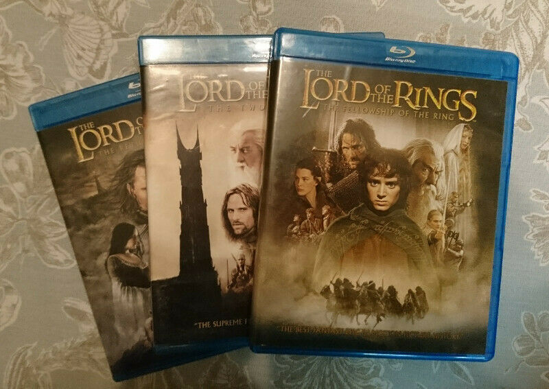 The Lord of the Rings trilogy blu-ray box set