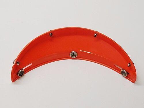 NOS Vintage 3 Snap Orange Visor for Open Face Motorcycle Helmet AHRMA