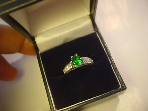 SUPER-DETAIL-SOLID-SILVER-RING-EMERALD-amp-DIAMOND-034-CUBICS-034-HIGH-GRADED-SIZE-K1-2