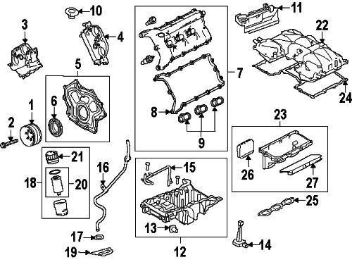 Land Rover Oem 14 15 Lr4 Engine Intake Manifold Gasket Lr041680 For