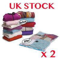 SPACE SAVING VACUUM STORAGE BAGS EXTRA LARGE JUMBO SEAL CLOTHES BAG VACCUUM UK