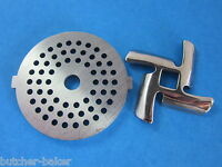 1/8 Meat Grinder Plate Disc & Knife For Rival Sunmile & Deni Electric