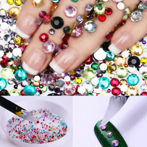 Image Is Loading 2000pcs Nail Rhinestones Dotting Pen Wax Picker