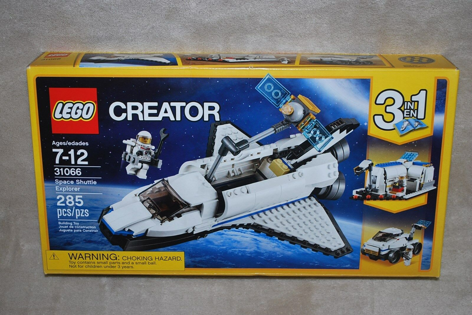 LEGO New 31066 Creator Space Shuttle Explorer 3 In 1 New In Factory Sealed Box