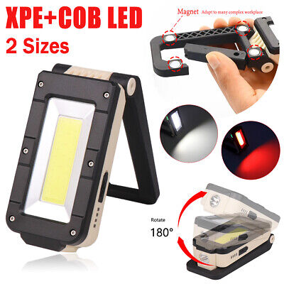 Details about  /COB LED Work Light Magnetic Inspection Folding Torch Rechargeable 4 Modes BE