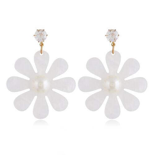 Fashion Acrylic Resin Geometric Dangle Drop Statement Earrings Women Jewelry
