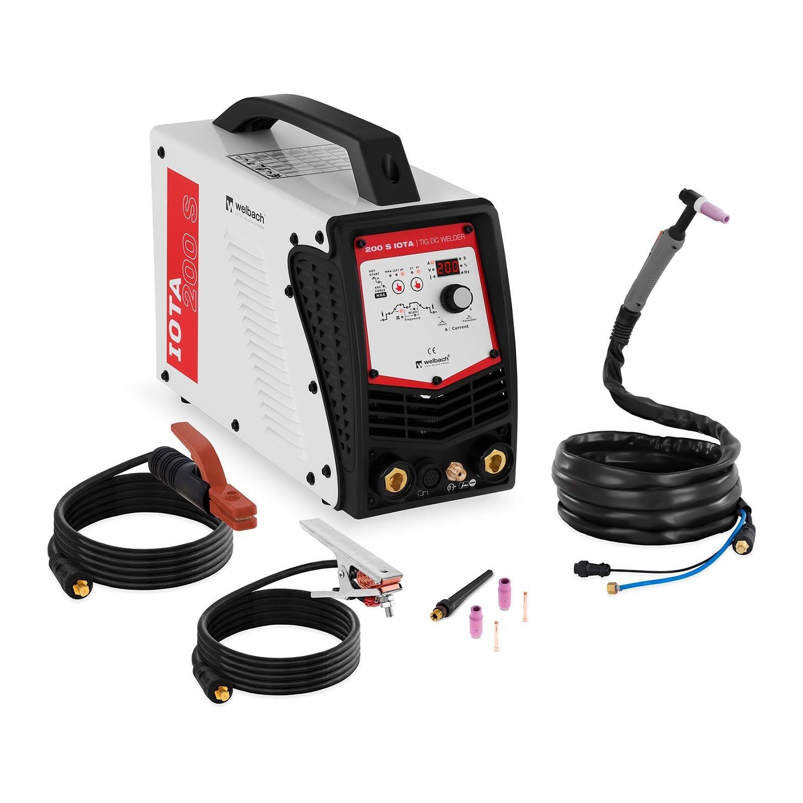 WIG Schweißgerät 200 Ampere - Digital Puls IGBT TIG DC LIFT HF E-Hand 2T/4T