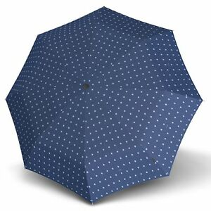 Regenschirme Knirps T.200 Medium Duomatic Regenschirm Kelly Blue Uv-protection Blau Kleidung & Accessoires