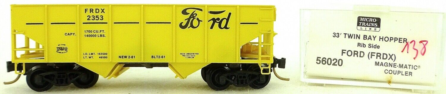 Micro Trains Line 56020 Ford Engine Co Frdx2353 33' Twin Hopper