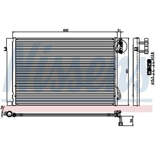 Condensateur Pour Climatisation Climat Condensateur climat Refroidisseur Nouveau NISSENS 94872